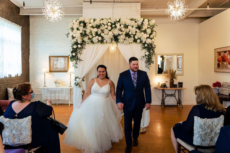 Bride and Groom Walkaway Shot By John Ryan