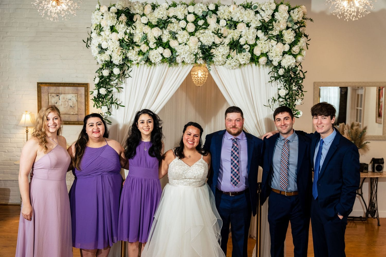 Bridal party Philly Micro Chapel Wedding Shot By John Ryan