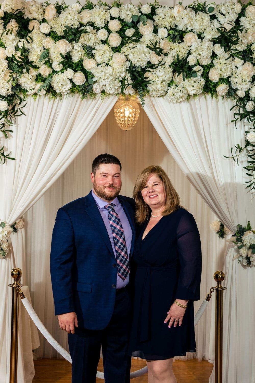 Groom and Mom Philly Micro Chapel Wedding Shot By John Ryan