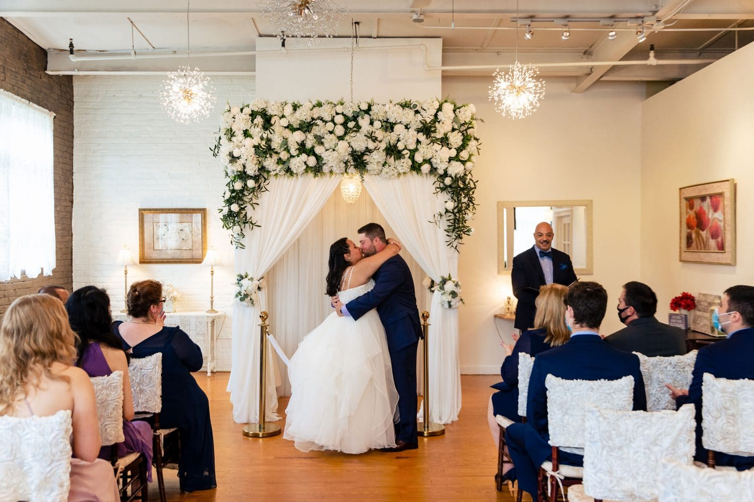Bride and Groom kissing in Philly wedding Shot By John Ryan