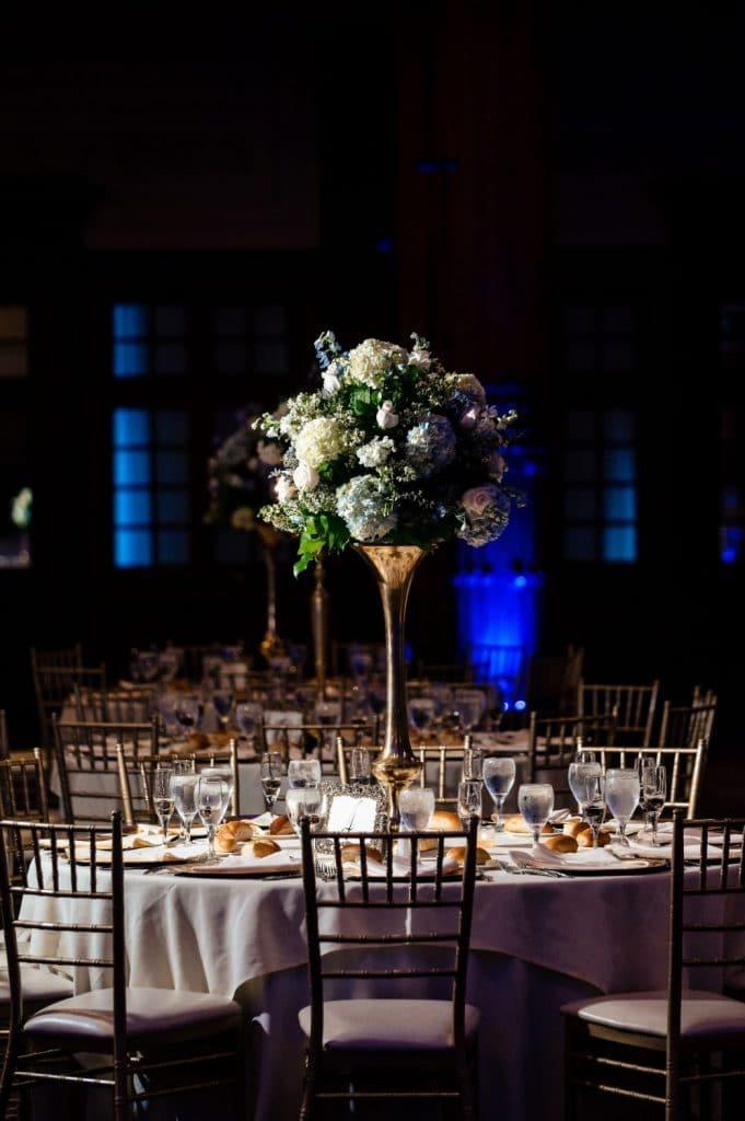 crystal tea room wedding philadelphia pa reception centerpiece
