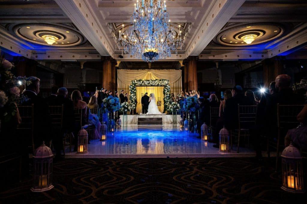 jewish crystal tea room wedding ceremony philadelphia pa