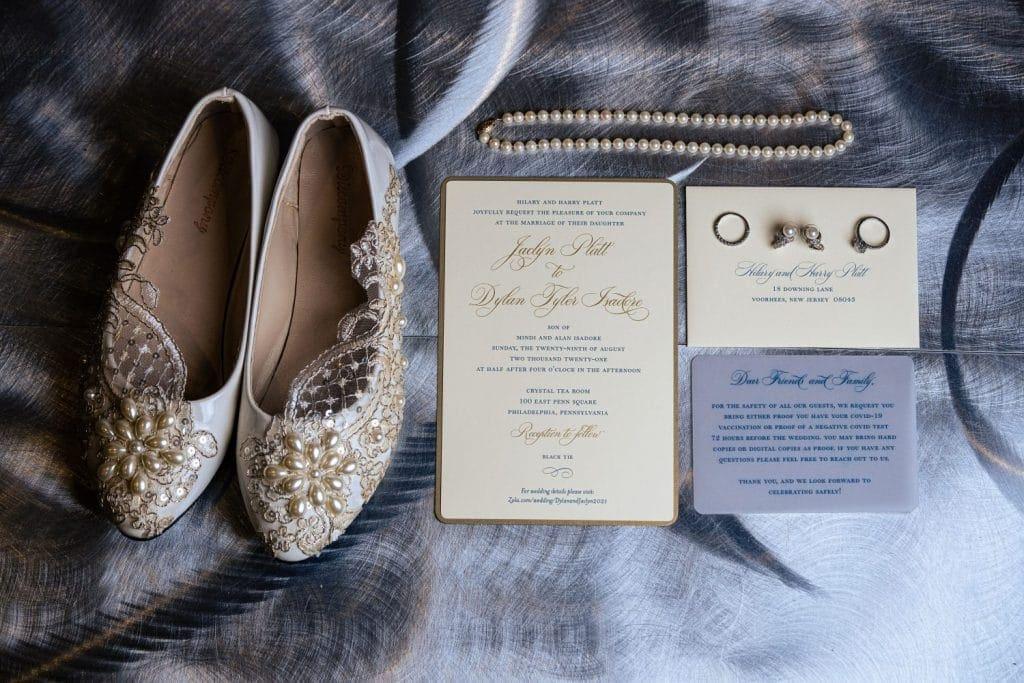 wedding shoes jewelry invitation