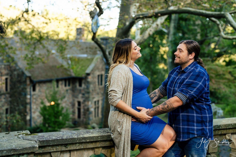 Happy couple in blue shot by John ryan