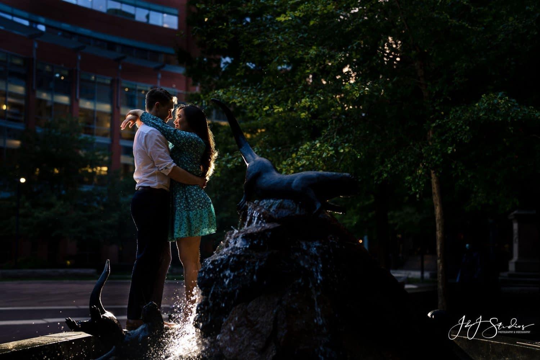 Jefferson University Medical School Engagement Shot By John Ryan