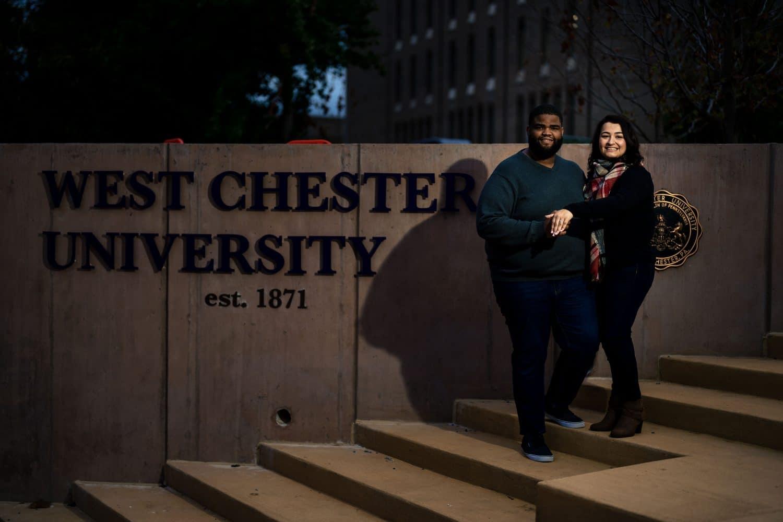 West Chester University Engagement Session Shot By John Ryan