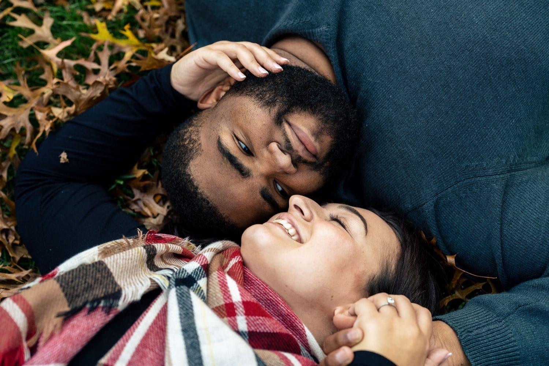 Couple in fallen leaves Shot By John Ryan